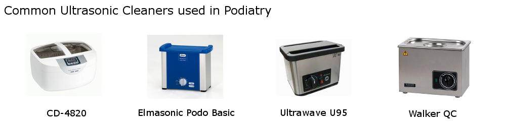 Common Podiatry Ultrasonic Cleaners