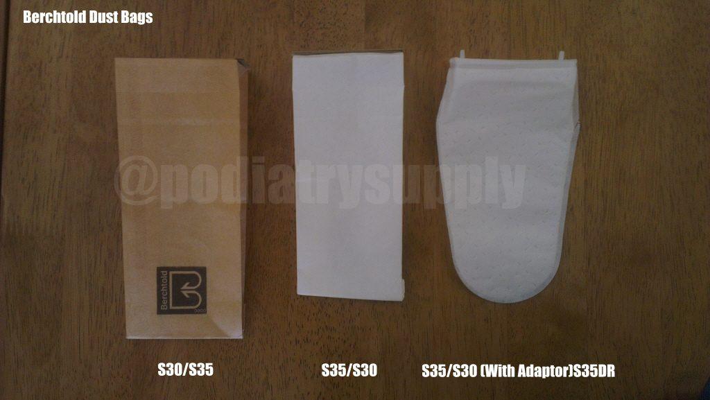Types of Berchtold Dustbags