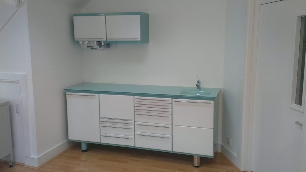 Built in clinic cabinets